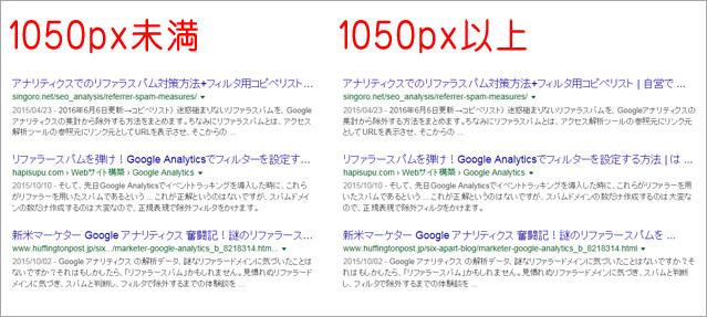 PCでのGoogle検索結果のタイトル文字数