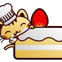自営1周年記念にケーキを食べるw